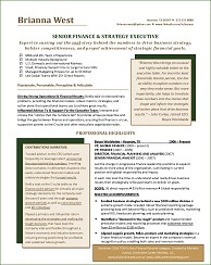 financial resume example this financial resume was a nominee for the prestigious tori award recognizing the best of the best resume writers globally