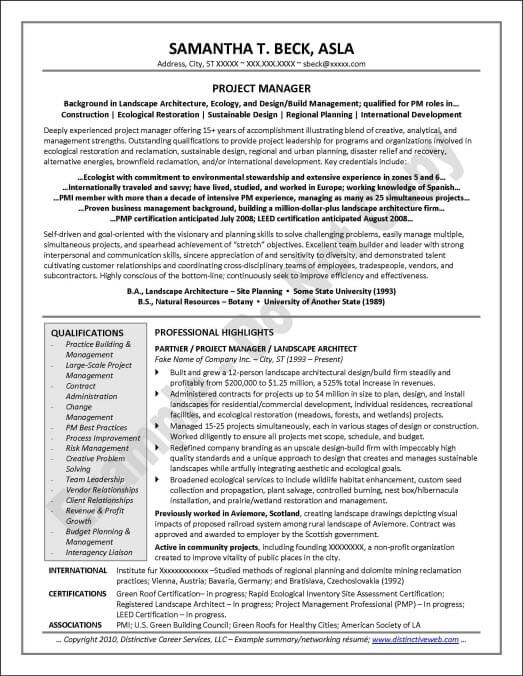Short Resume Networking
