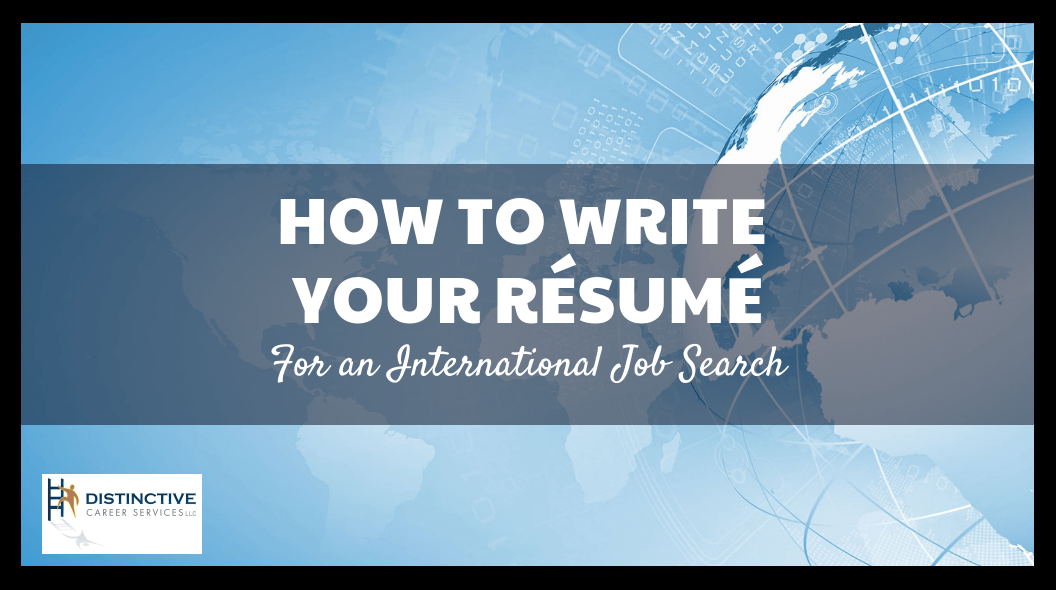 write your resume for an international job search