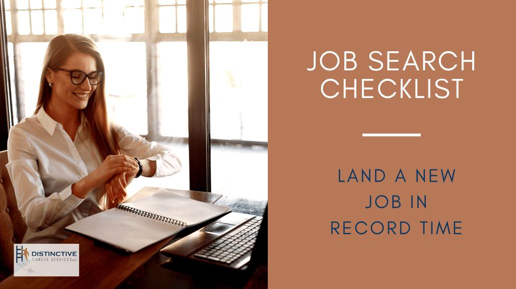 ob Search Checklist: Land a New Job In Record Time