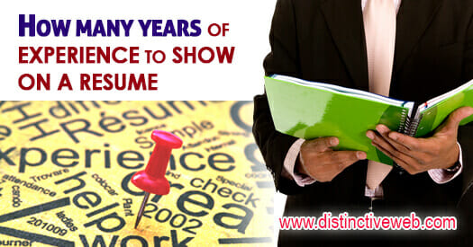 how many years of experience on a resume
