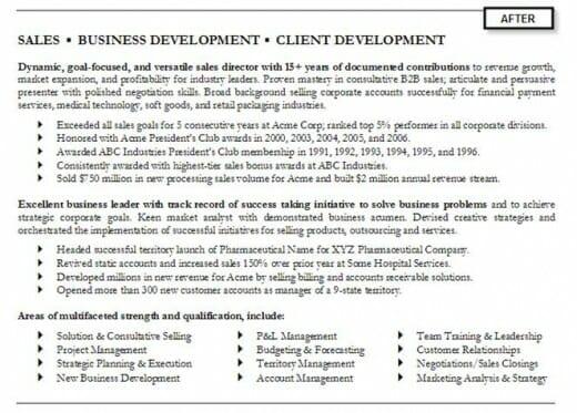 Example Resume Summary