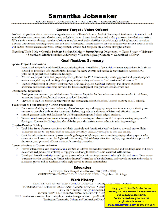 example of targeted resume - Target Resume Samples