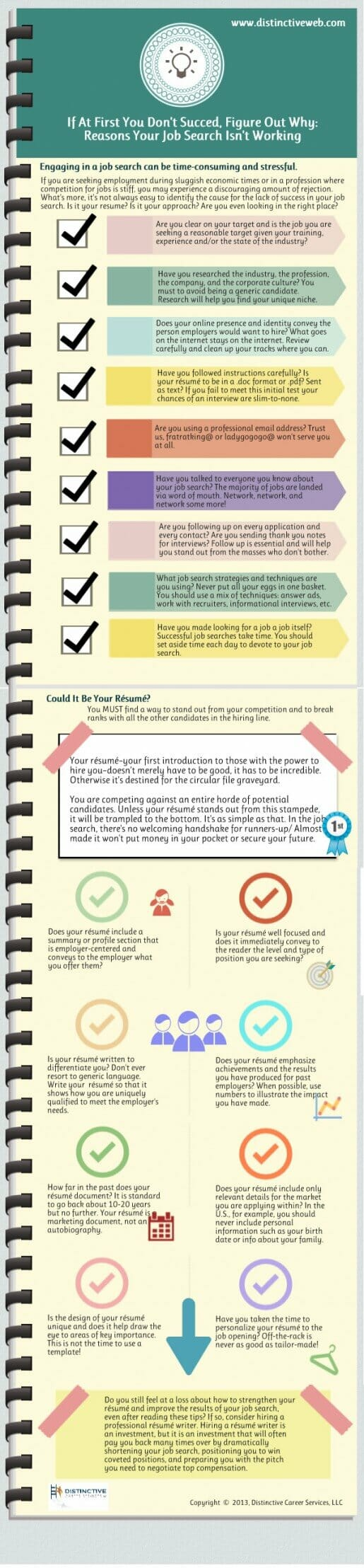 Checklist for a more effective resume and job search