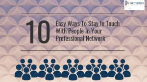 10 Easy Ways To Stay In Touch With People In Your Professional Network