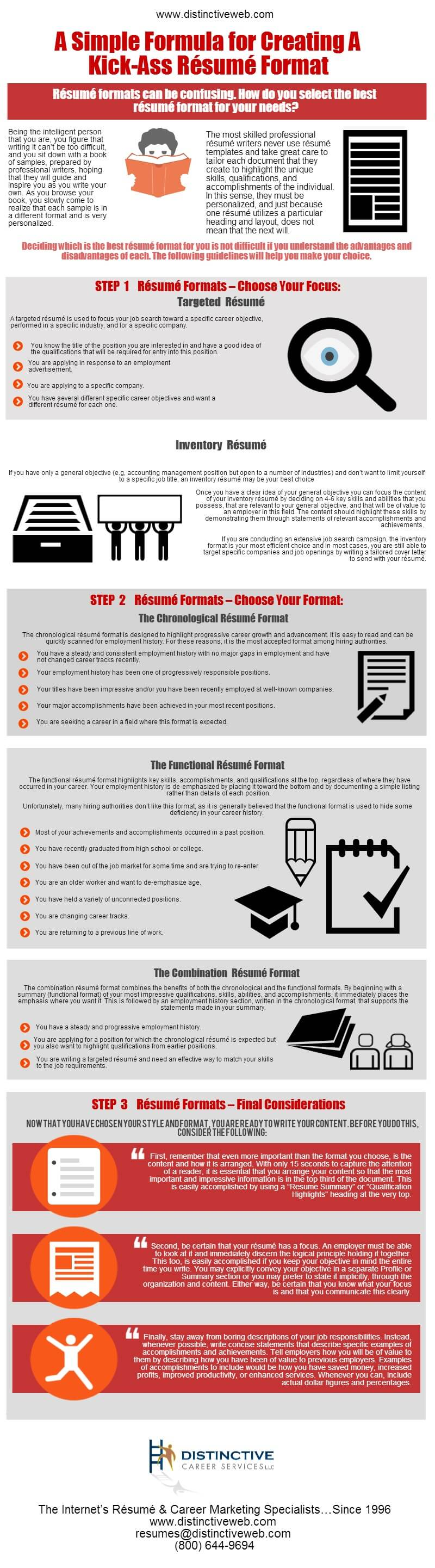 So, How Do You Select The Best Resume Format For Your Needs? The Following  Infographic Details The Guidelines That Will Help You Make Your Choice.