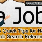 5 Quick Tips for Handling Job Search References