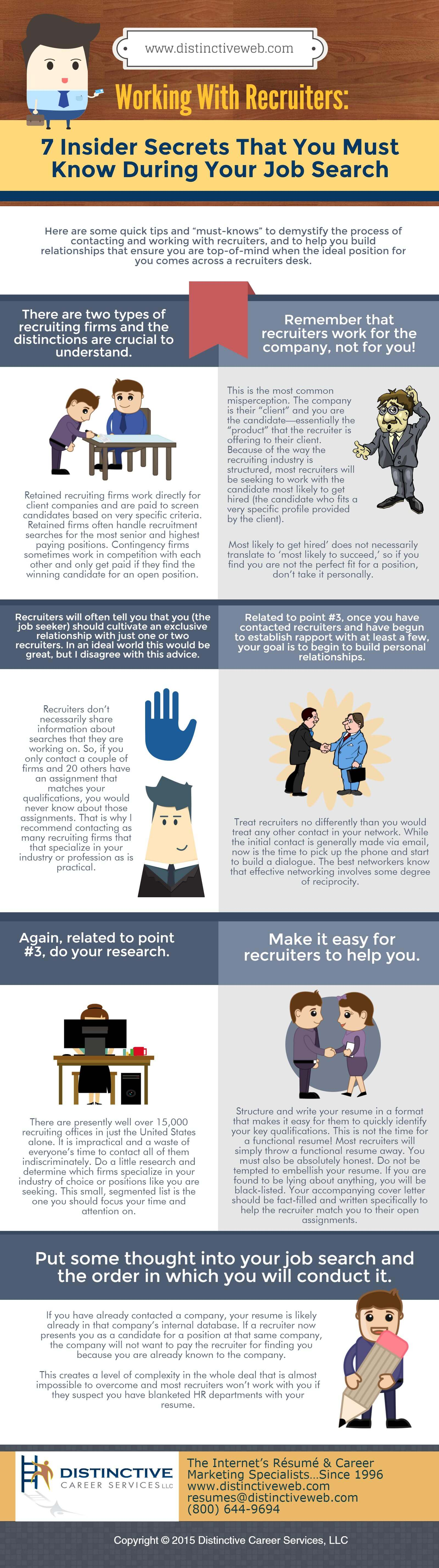 Infographic: Working with Recruiters: 7 Insider Secrets that You Must Know During Your Job Search