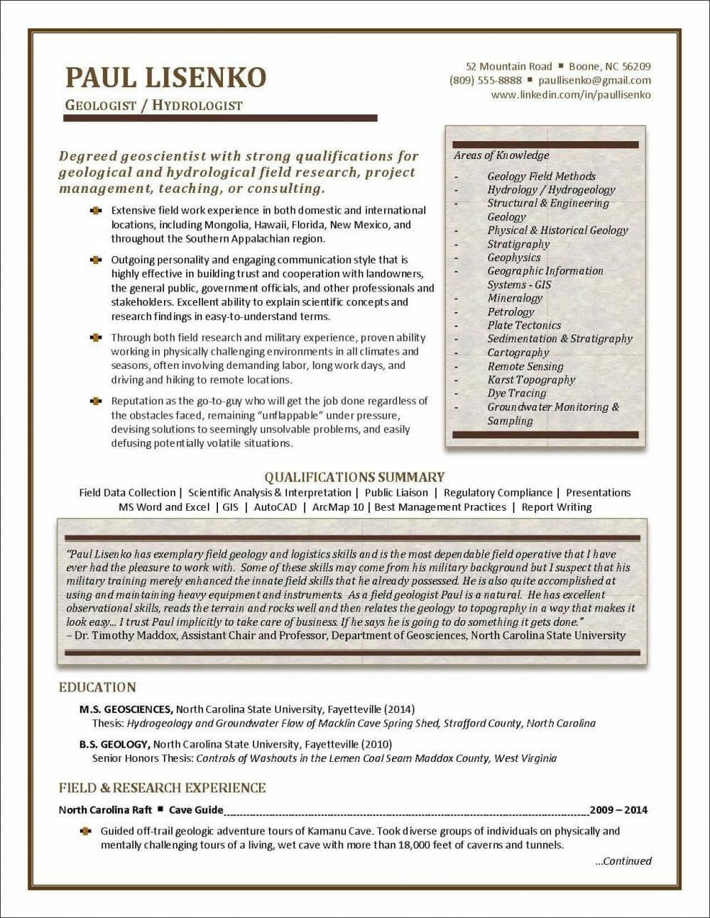 New Graduate Sample Resume Page 1 E1572798869856