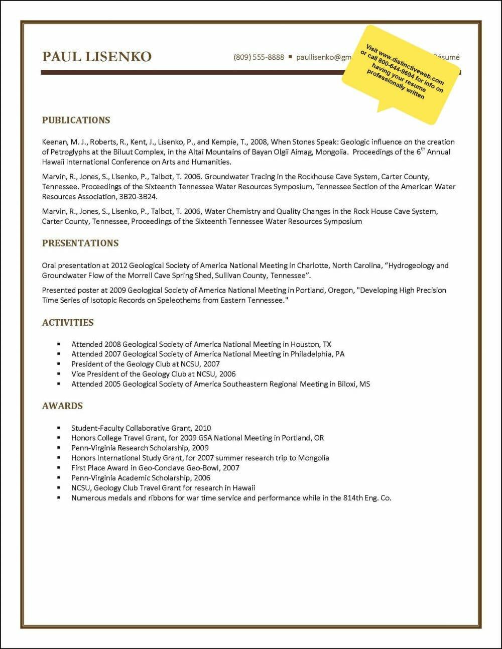 New Graduate Sample Resume Page 3 E1572798841367