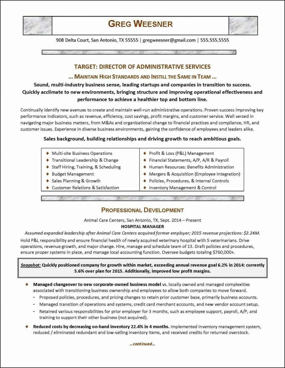 Industry Career Change Sample Resume 1