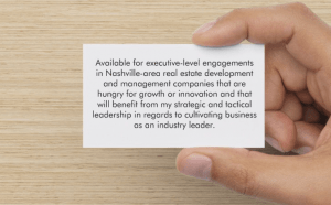 Business Card for Your Next Networking Event - back side