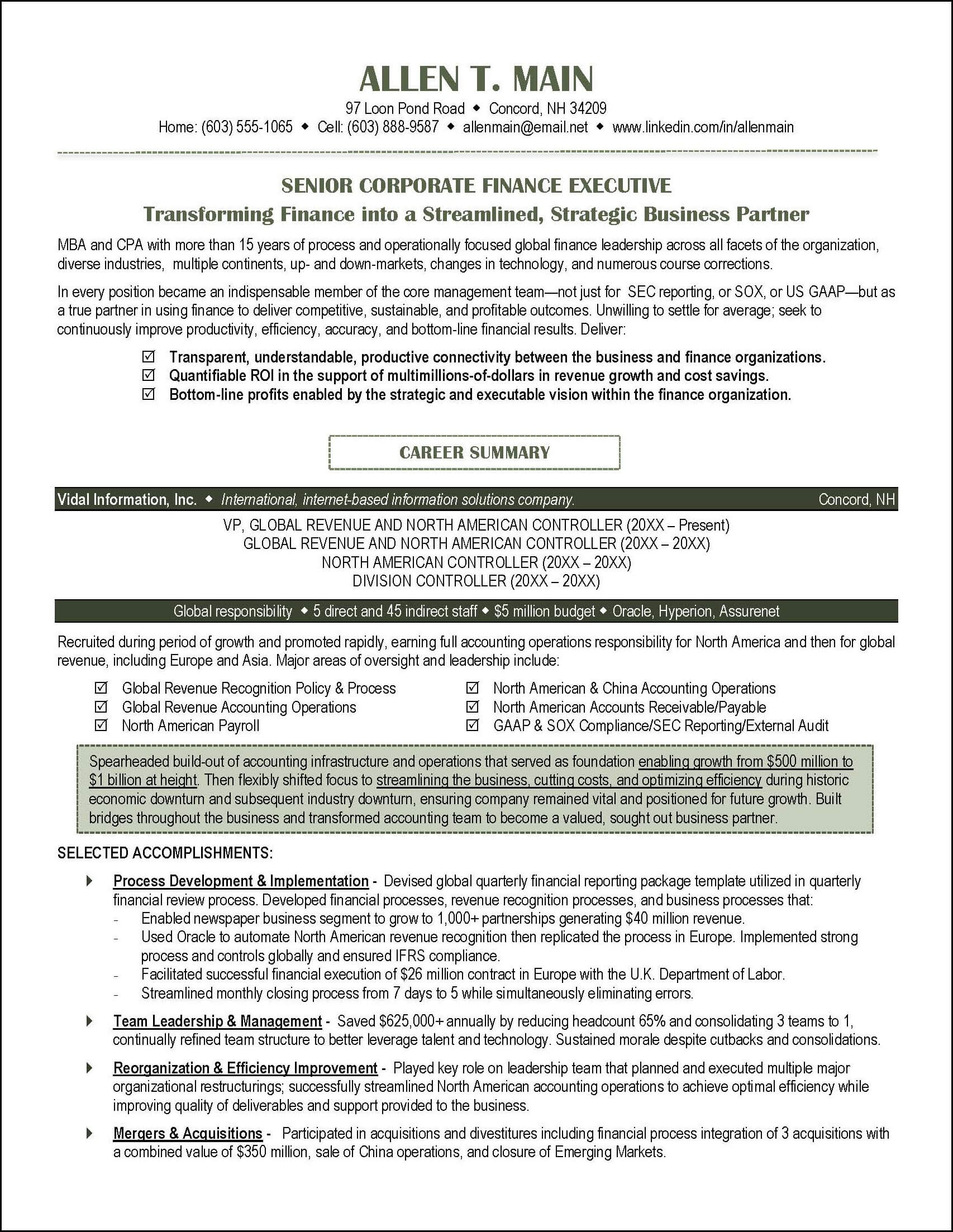 resume How Many Years To Include On Resume accounting resume example distinctive documents page 1