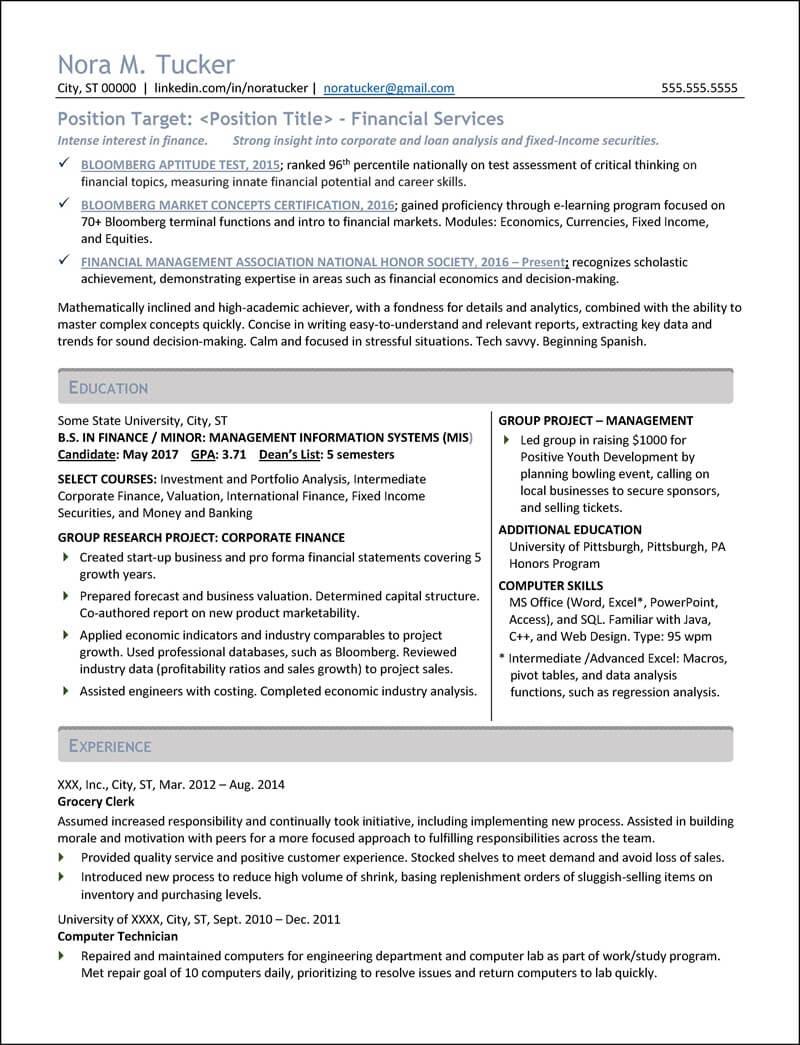 student resume examples - Student Resume Examples