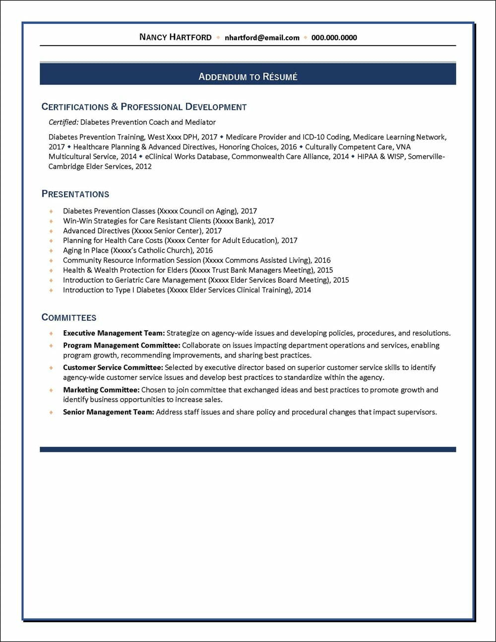 Healthcare program manager resume page 3