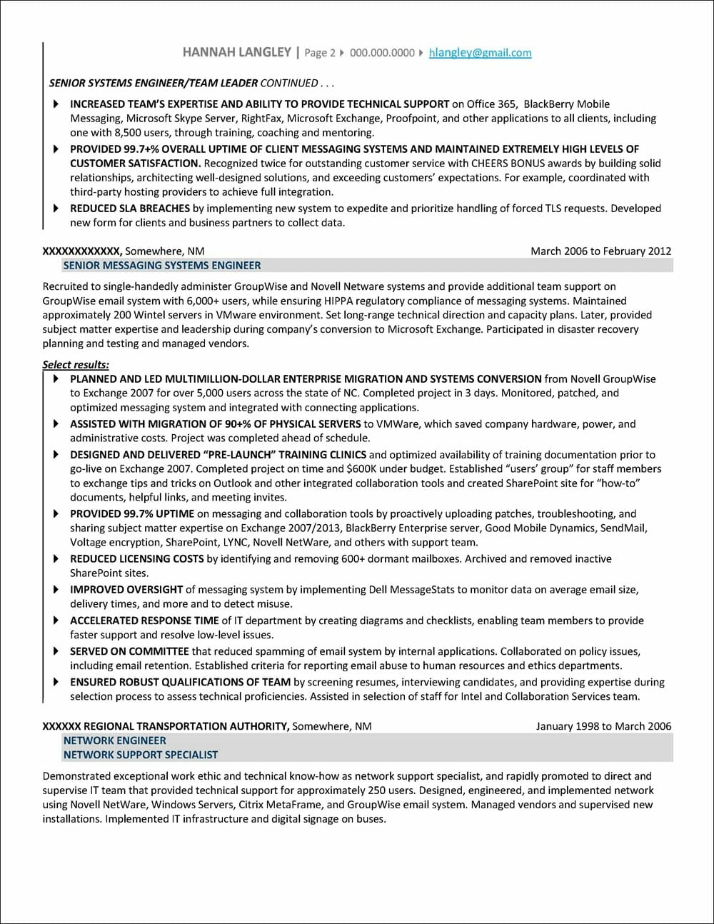 IT Manager Resume page 2