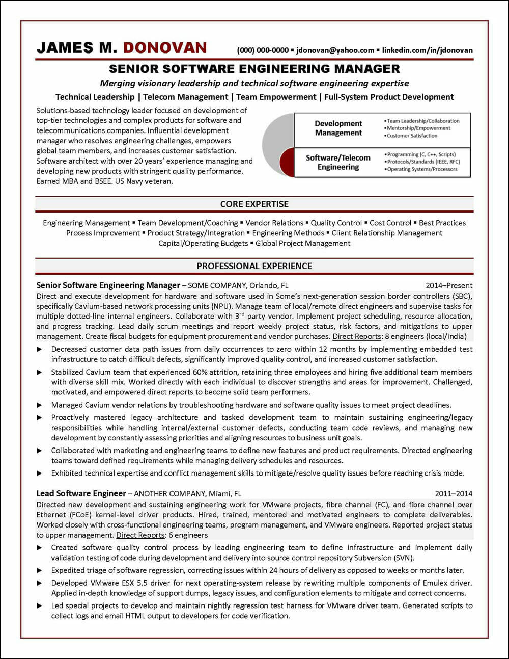 Software Engineering Resume Page 1