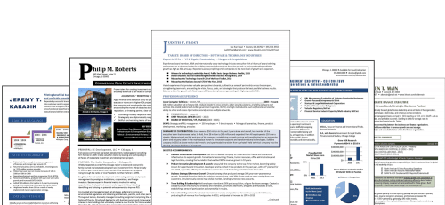 Resume Examples from Distinctive Career Services