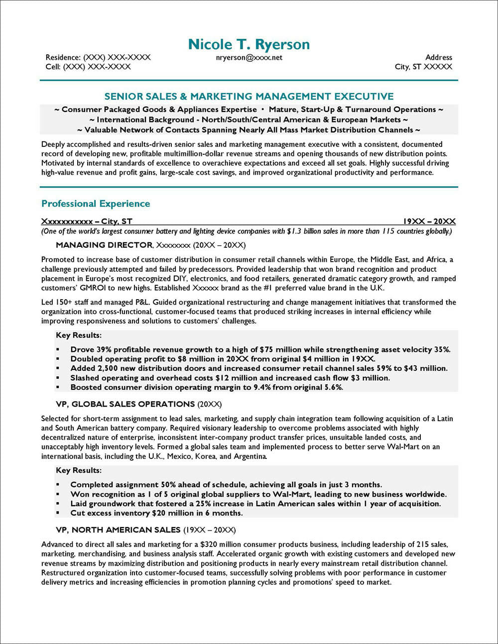 Resume Objective Examples Distinctive Career Services