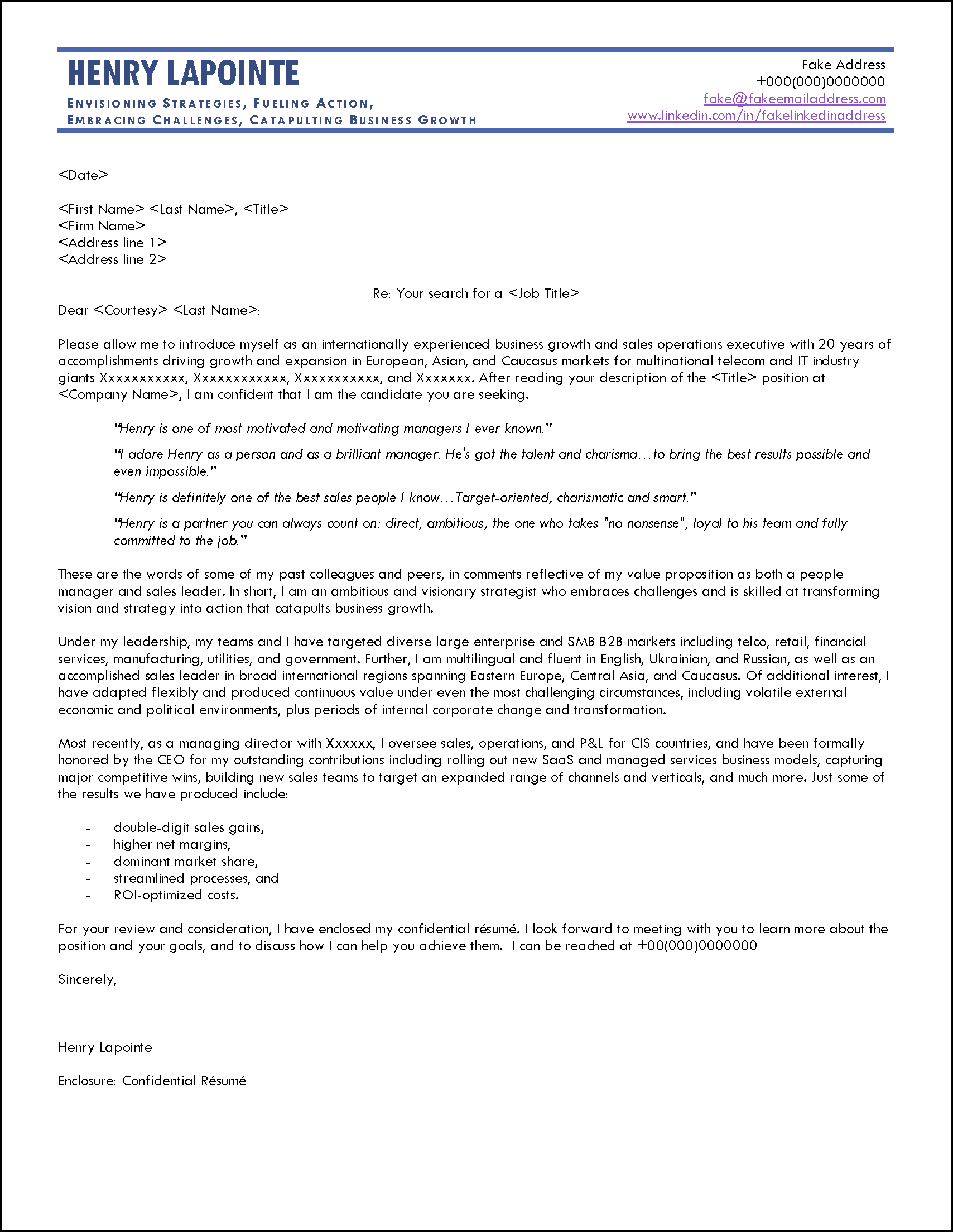 Example of a Cover Letter for Applying for Advertised Jobs