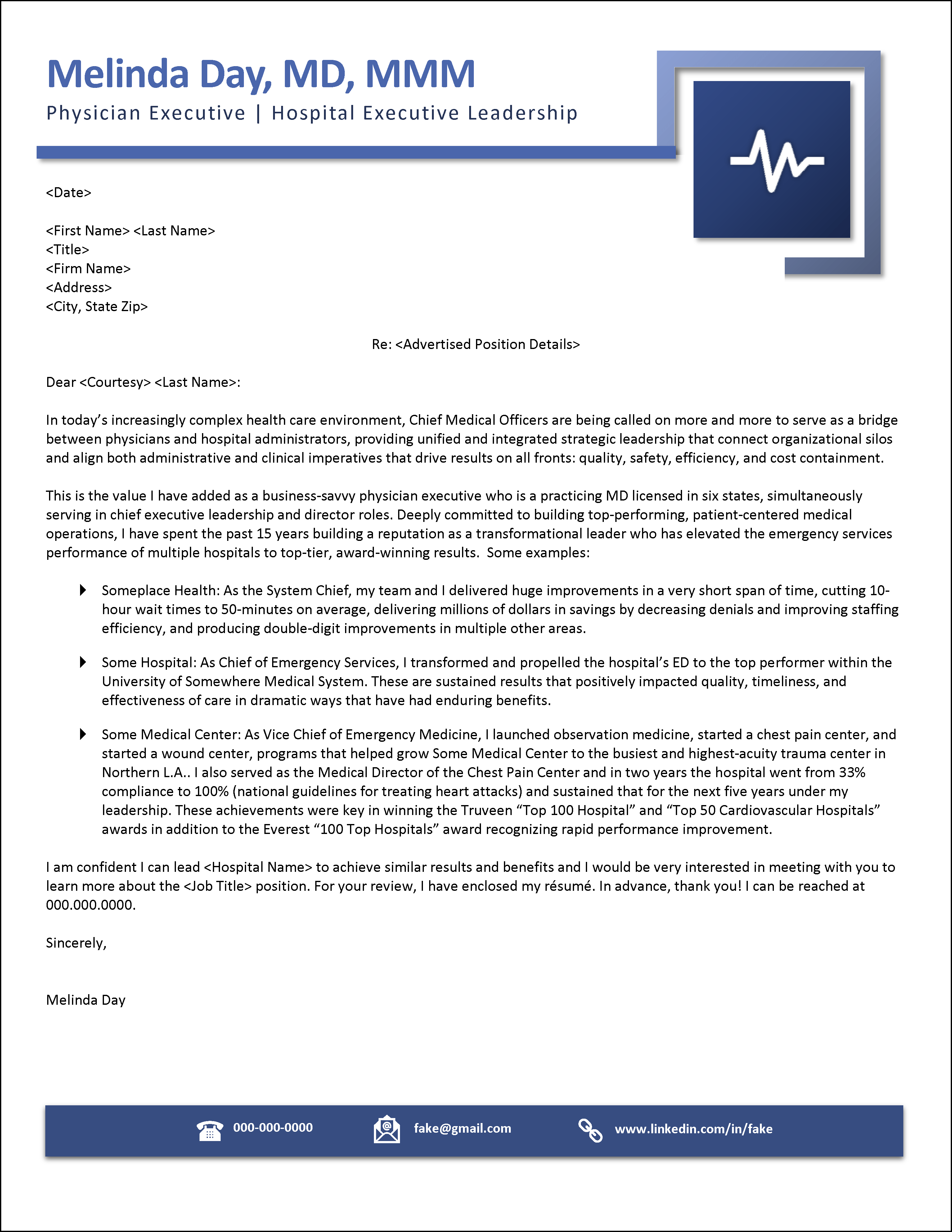 Example Job Ad Response Cover Letter