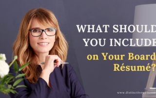 What Should You Include on Your Board Resume?